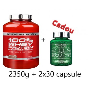 100% Whey Protein Professional 2350g + Green Coffee Complex  60 caps Gratis