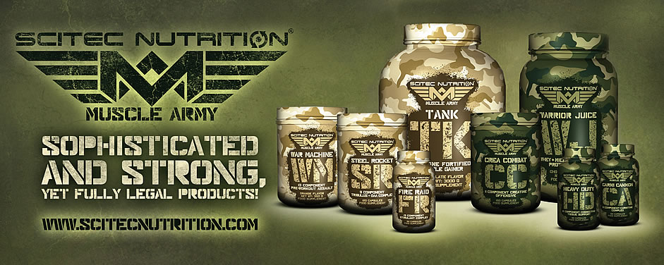Suplimente Scitec Nutrition Muscle Army